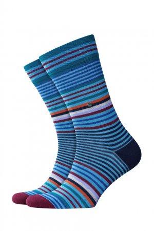 Полосатые носки Stripe Burlington. Цвет: голубой