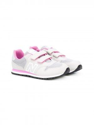 Кроссовки на липучках New Balance Kids. Цвет: серый