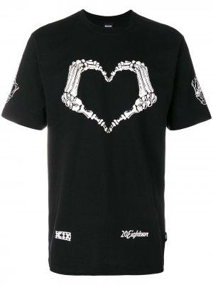 Heart skeleton T-shirt KTZ. Цвет: черный
