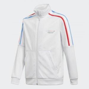 Олимпийка Adicolor Originals adidas. Цвет: белый