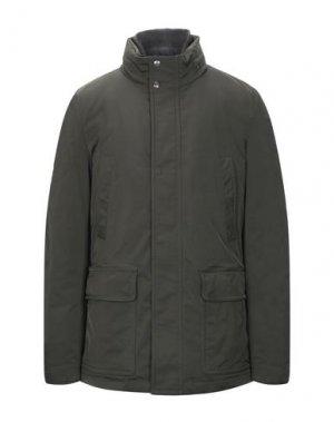 Куртка ADHOC. Цвет: зеленый-милитари