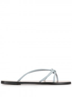 Knot strap sandals ATP Atelier. Цвет: коричневый