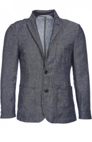 Пиджак 120% Lino. Цвет: синий