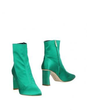 Полусапоги и высокие ботинки TIBI. Цвет: зеленый