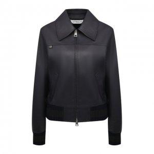 Кожаная куртка Victoria Beckham. Цвет: синий