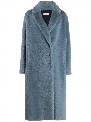 Двубортное пальто Inès & Maréchal. Цвет: синий