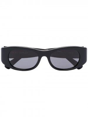 Солнцезащитные очки Tangerine в прямоугольной оправе Port Tanger. Цвет: черный