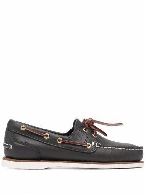 Топсайдеры со шнуровкой Timberland. Цвет: синий