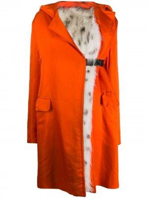 Пальто с капюшоном 1990-х годов Gianfranco Ferré Pre-Owned. Цвет: оранжевый