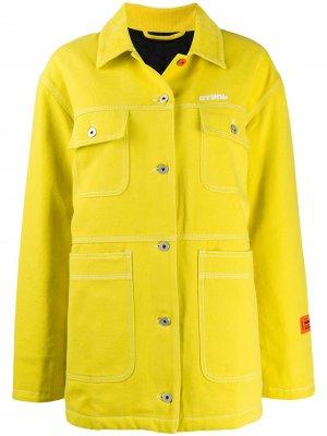 Джинсовая куртка с вышитым логотипом Heron Preston. Цвет: желтый