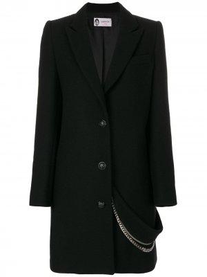 Пальто с цепочкой LANVIN. Цвет: черный