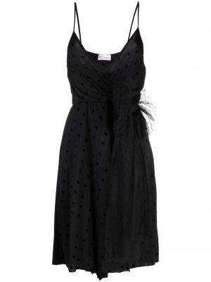 Платье миди с принтом RED Valentino. Цвет: черный