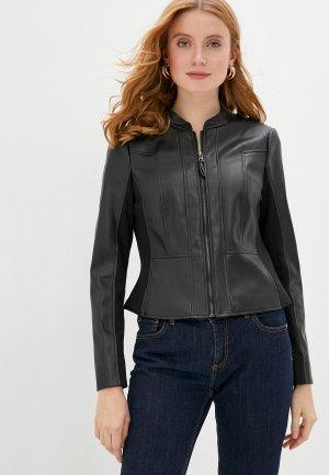 Куртка кожаная Gerry Weber. Цвет: черный