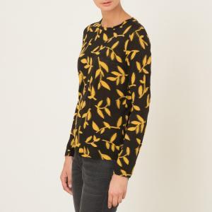 Пуловер REBECCA MOMONI. Цвет: черный/ желтый