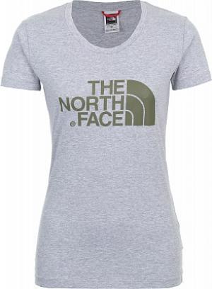 Футболка женская Easy, размер 40-42 The North Face. Цвет: серый