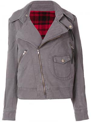 Джинсовая байкерская куртка Vivienne Westwood. Цвет: серый