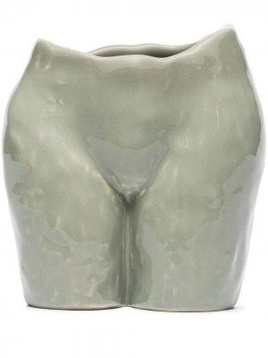 Керамический горшок Popotin Anissa Kermiche. Цвет: нейтральные цвета