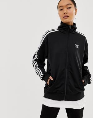 Черная куртка с тремя полосками Firebird-Черный adidas Originals