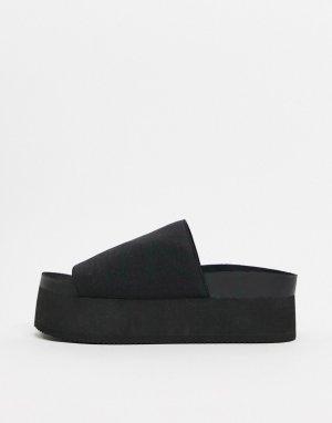 Черные туфли на платформе -Черный Monki