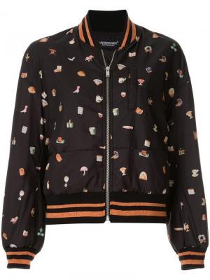 Куртка-бомбер с графическим принтом Undercover