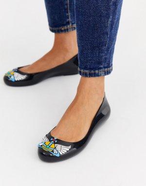 Черные туфли на плоской подошве -Черный Vivienne Westwood for Melissa