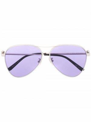 Солнцезащитные очки-авиаторы Balenciaga Eyewear. Цвет: серый