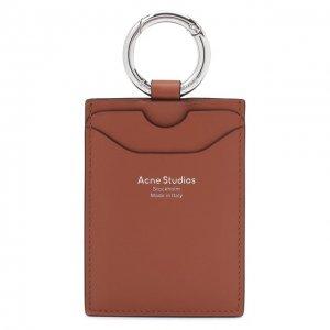 Кожаный футляр для кредитных карт Acne Studios. Цвет: коричневый