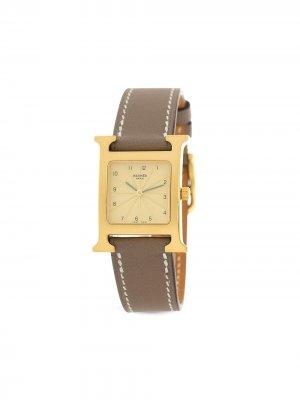 Наручные часы Heure H pre-owned 32 мм Hermès. Цвет: золотистый