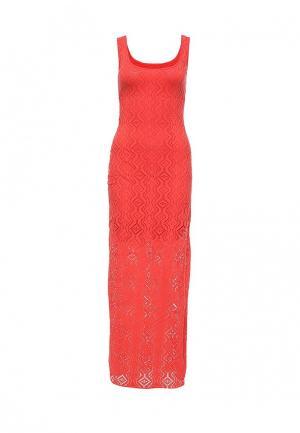 Платье Bebe. Цвет: коралловый
