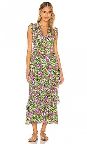 Макси платье donna Banjanan. Цвет: зеленый