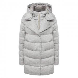 Пуховая куртка Herno. Цвет: серебряный
