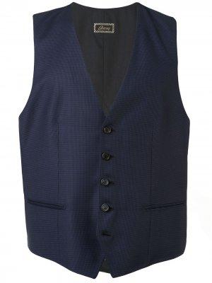 Приталенный жилет Brioni. Цвет: синий