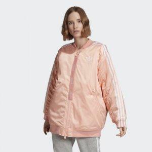 Утепленная куртка-бомбер Originals adidas. Цвет: розовый