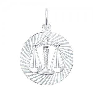 Подвеска «Знак зодиака Весы» из серебра SOKOLOV