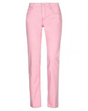 Джинсовые брюки MELTIN POT. Цвет: розовый