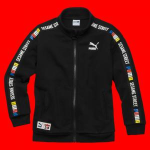 Детская олимпийка Sesame Jacket PUMA. Цвет: черный