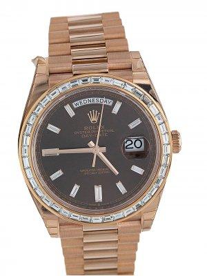 Наручные часы Oyster Perpetual Date pre-owned 40 мм Rolex. Цвет: золотистый