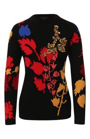 Пуловер из смеси шерсти и кашемира Escada. Цвет: черный