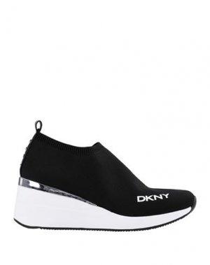 Низкие кеды и кроссовки DKNY. Цвет: черный