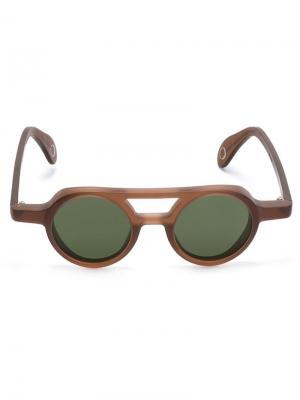 Солнцезащитные очки Bruto Monocle Eyewear. Цвет: коричневый