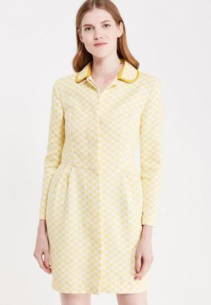 Платье Katya Erokhina Fleur Yellow. Цвет: желтый