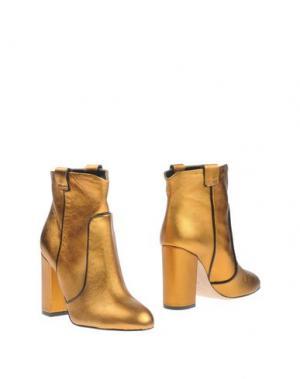 Полусапоги и высокие ботинки GIAMPAOLO VIOZZI. Цвет: золотистый