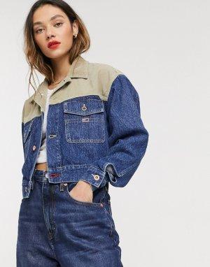 Короткая джинсовая куртка -Синий Tommy Jeans