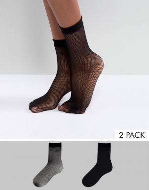 2 пары сетчатых носков -Черный Vero Moda