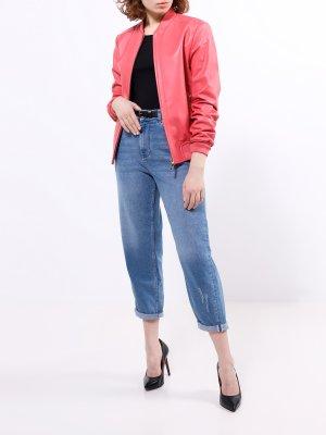 Кожаная куртка ORSA Couture. Цвет: korallovyy