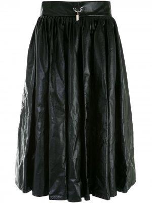 Юбка со складками Christopher Kane. Цвет: черный