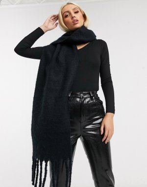 Черный мягкий шарф -Черный цвет Lipsy