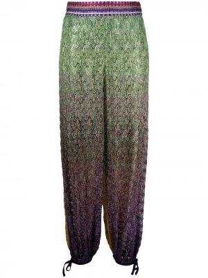 Пляжные брюки с эффектом омбре Missoni Mare. Цвет: зеленый