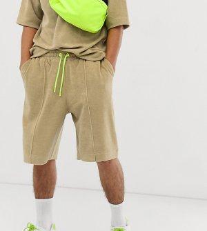 Махровые шорты от костюма COLLUSION. Цвет: коричневый