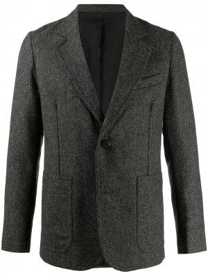 Пиджак с подкладкой AMI Paris. Цвет: серый